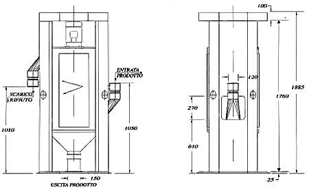 Vibroclassificatore verticale mod L.V.C.